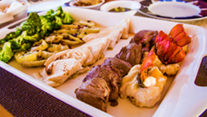 bahamas Yacht Catering Menu, Food,